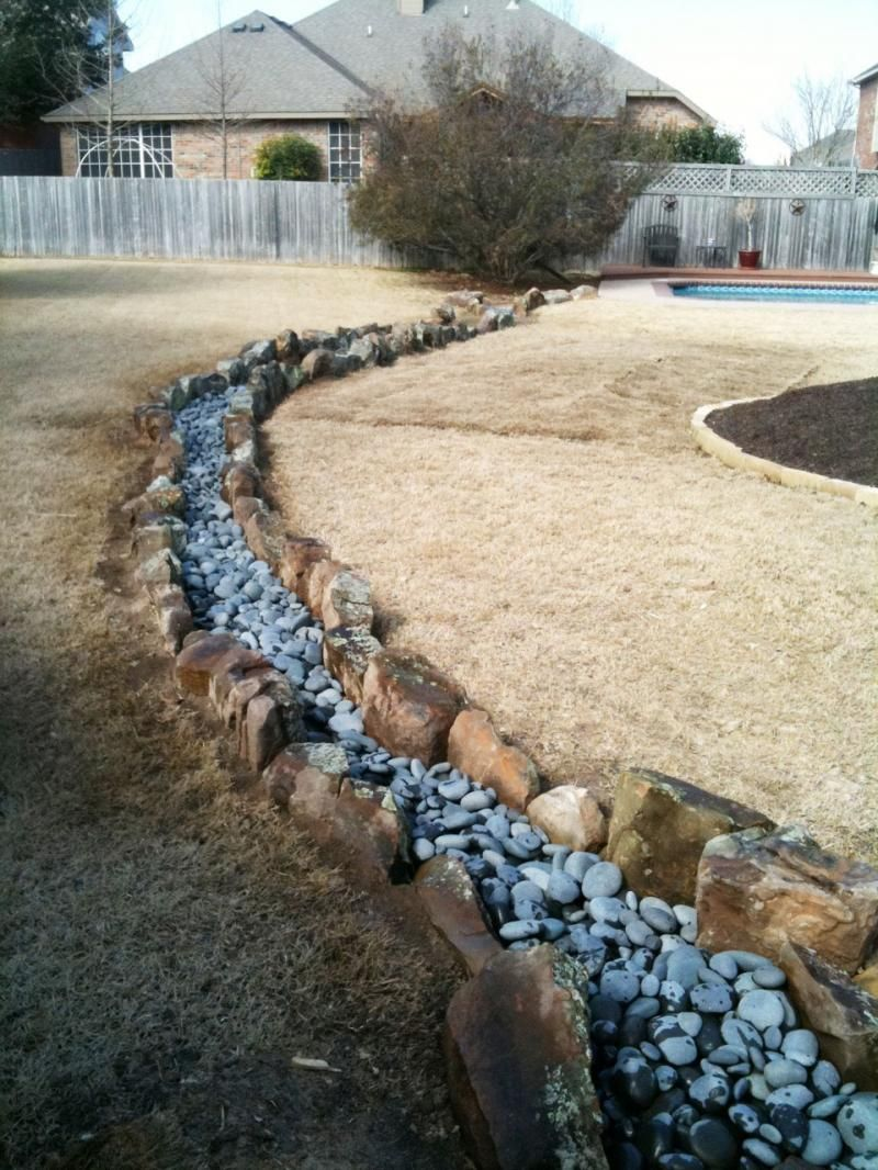 use artificial stream for edging google search backyard paths