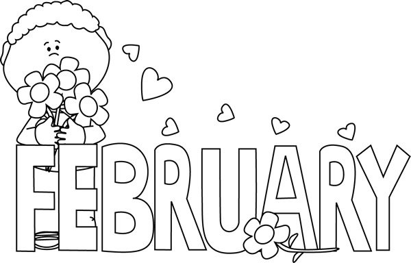 Black And White February Valentine S Day New Year Coloring Pages Valentines Day Coloring Page Valentines Day Bulletin Board