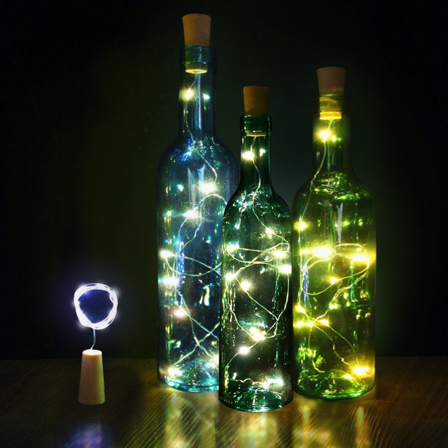 2 M Decoration Mariage Bottle Corks Light String Glass Crafts Decorate At  Night Lights Lamp Party Wedding Decorations,Q