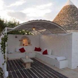 trullo esterno canneto divani muratura | Italia | Pinterest | Patios ...