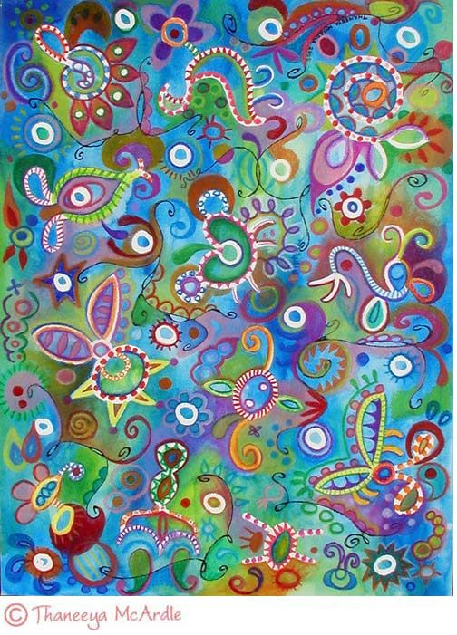 Colorful Watercolor Pencil Abstract Art Btw Please Check This