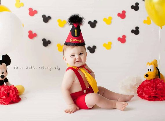 Check out this item in my Etsy shop https://www.etsy.com/listing/235432486/mickey-mouse-cake-smash-outfit-mickey