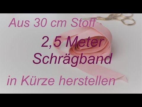 Photo of Schrägband herstellen – aus 30 cm Stoff knapp 2,5 Meter Schrägband