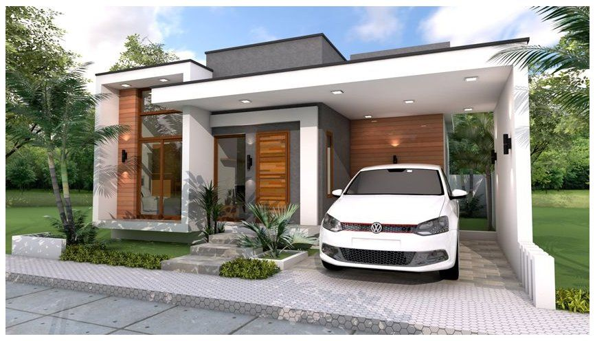 Modern House Style 3 Bedrooms And 1 Garage One Storey Modern House Design Interior Onestorey Modern Bungalow House Best Modern House Design House Styles