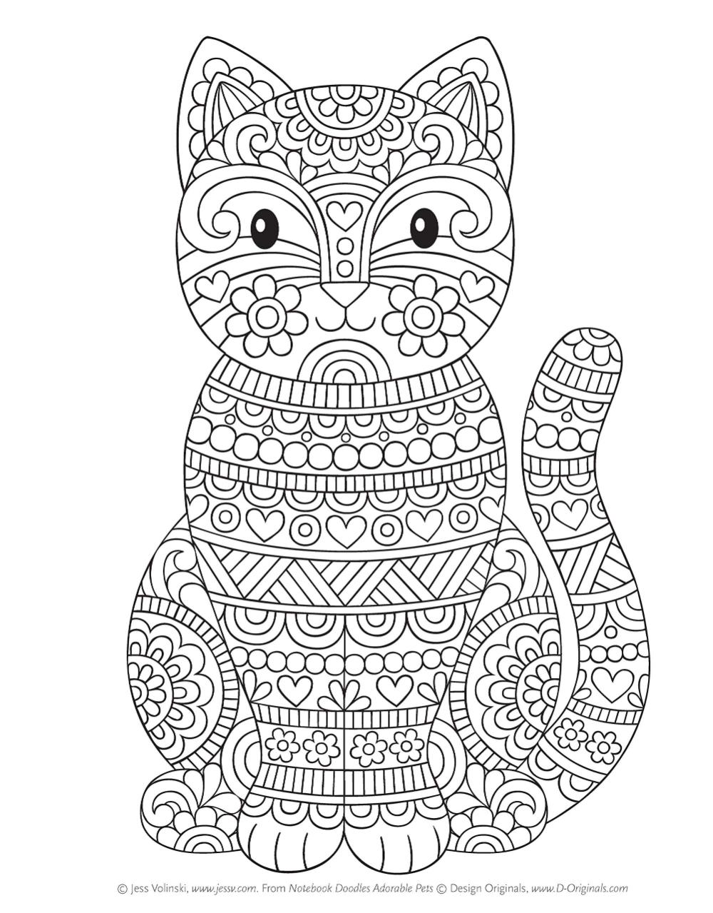 Amazon Com Notebook Doodles Adorable Pets Coloring Activity Book Design Originals 32 Dazzling Designs From Dogs Cats To Hedgeh Knizhka Raskraska Raskraski S Zhivotnymi I Besplatnye Raskraski
