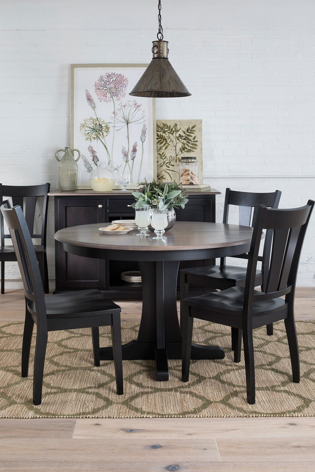 How To Soften A Black And White Space Small Space Dining Black Dining Room Table Black Dining Room Small Spaces