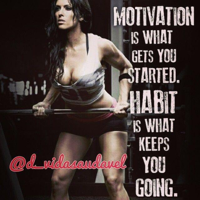 Motivação é o que te faz começar. Habito é o que te faz continuar.  Visite >> www.diariodeumavidasaudavel.com  #foco #emagrecercomsaude #fitspo #inspiration #saude #emagrecer #dieta #diet #health #follow #love