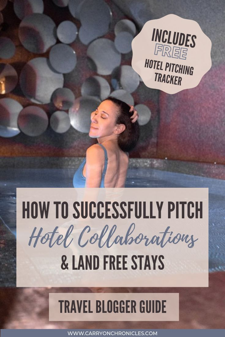 How to Successfully Pitch Hotel Collaborations & Land Free