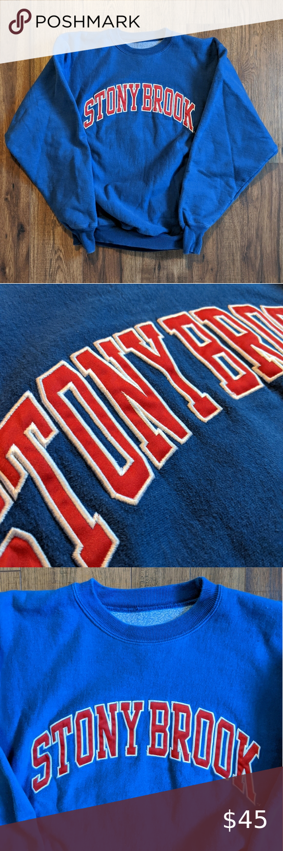 Vintage Stony Brook Crewneck Sweatshirt Crew Neck Sweatshirt Vintage Sweatshirt Sweatshirts [ 1740 x 580 Pixel ]