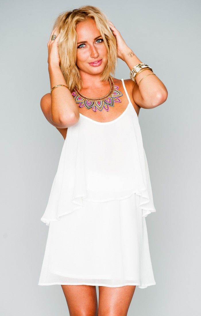 Dez Drape Dress - White Chiffon | Show Me Your MuMu | Mujer ...