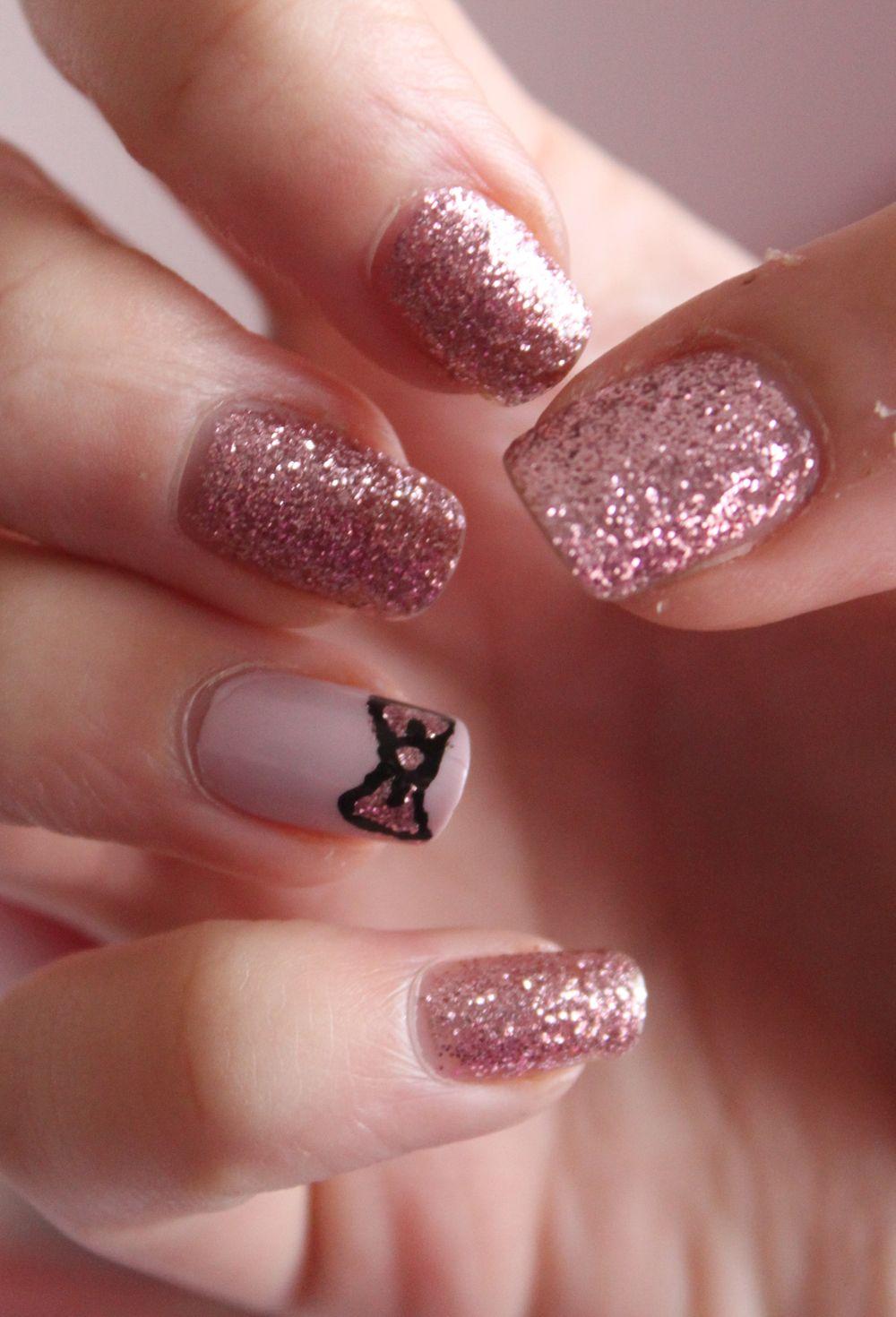 Silver glitter acrylic nails classy nail arts pinterest silver glitter acrylic nails prinsesfo Gallery