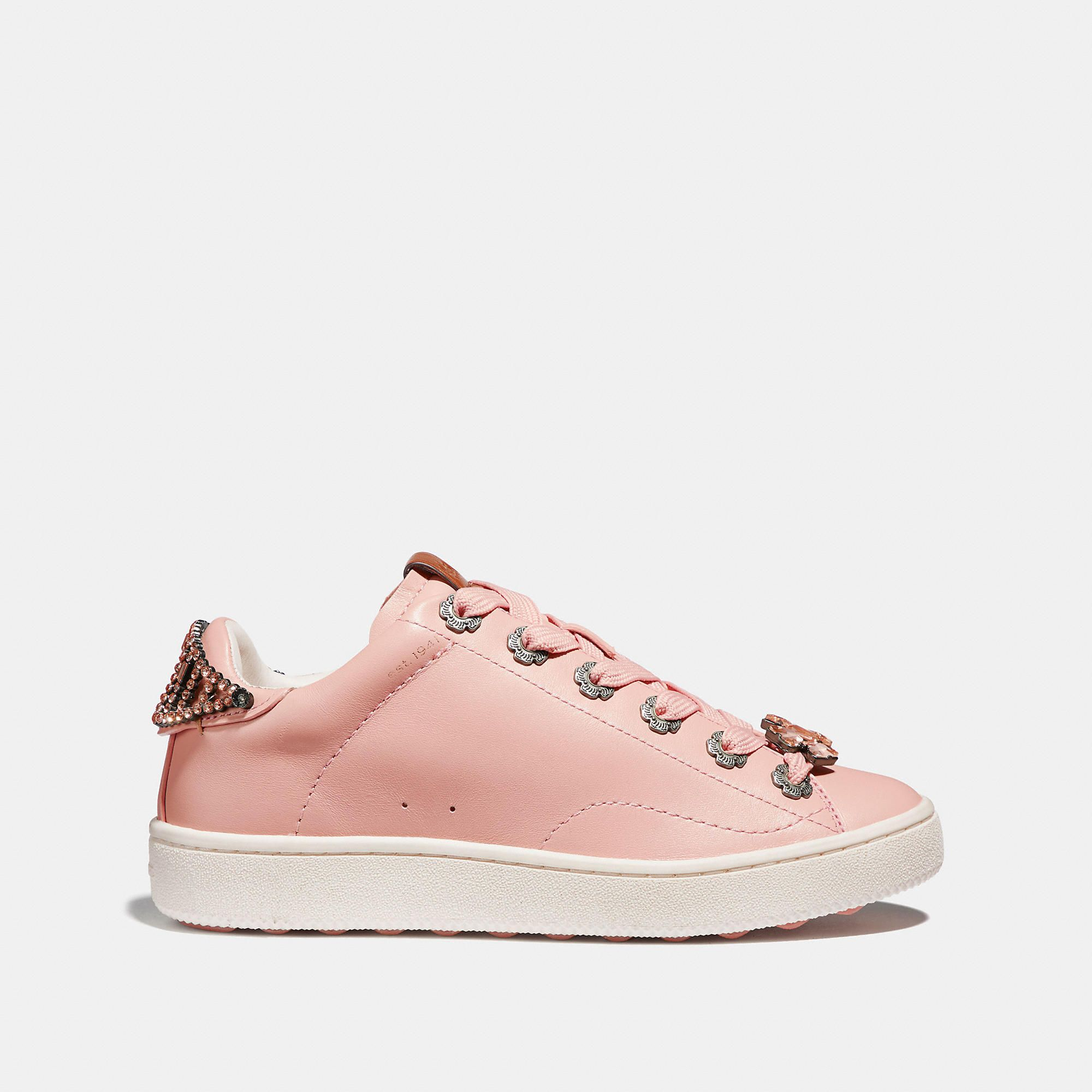 8a958f3b0fee COACH C101 With Tea Rose Eyelets And Bow - Women s Size 6.5 Tennis Shoes