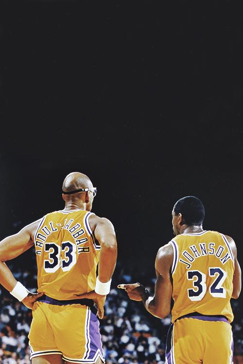 Pin By Bill Lisy On Lakers Magic Johnson Nba Legends Kareem Abdul Jabbar