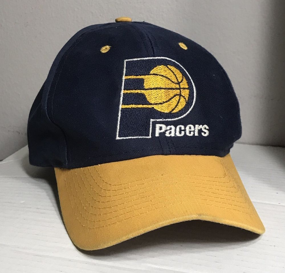 online store 347b2 a4ace ... purchase indiana pacers snapback hat cap basketball logo 7 blue yellow  white one size ebay 81685