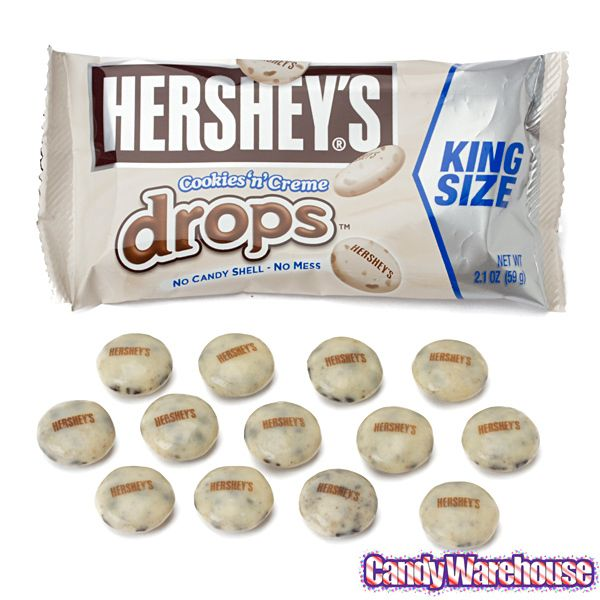 Hershey's Cookies 'n' Creme Drops Candy King Size Pouches ...