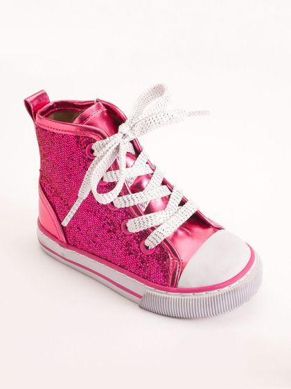 Girls Vulcanized Glitter Hi-Top by Launch Footwear on Gilt.com