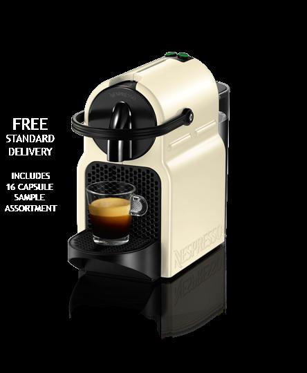 Inissia Vanilla Cream Coffee Machine Nespresso Coffee