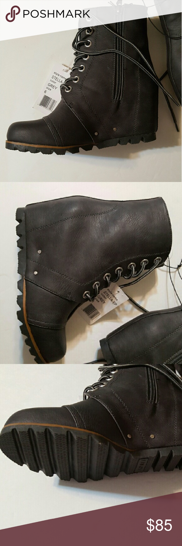 51282266012 Wedge boots Cute Esprit wedge boots. It s about 2 inches high. Looks just  like