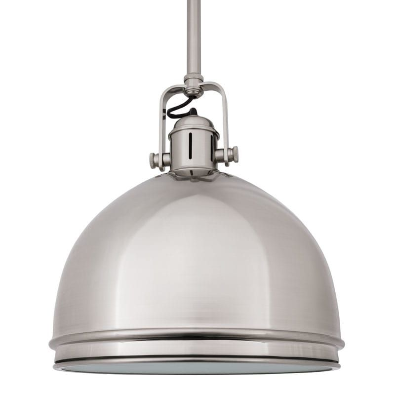 Hudson Valley Lighting 8011 One Light Pendant from the Windham Collection Satin Nickel Indoor Lighting Pendants
