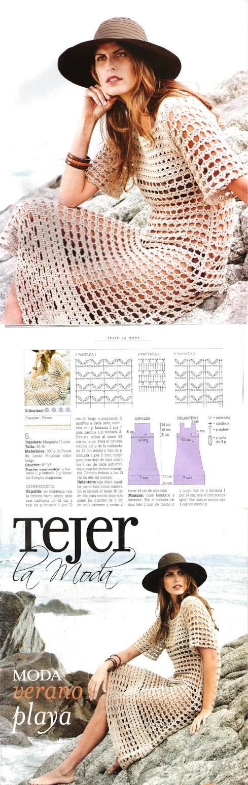 Tejer la moda 113 | bestidos otilia | Pinterest | Tejido, Vestiditos ...