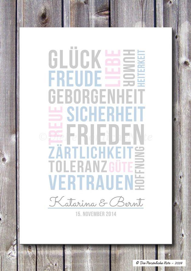 Druck/Print: Gute Wünsche (Hochzeit/Verlobung/Ehe