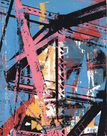 serigraphy on canvas