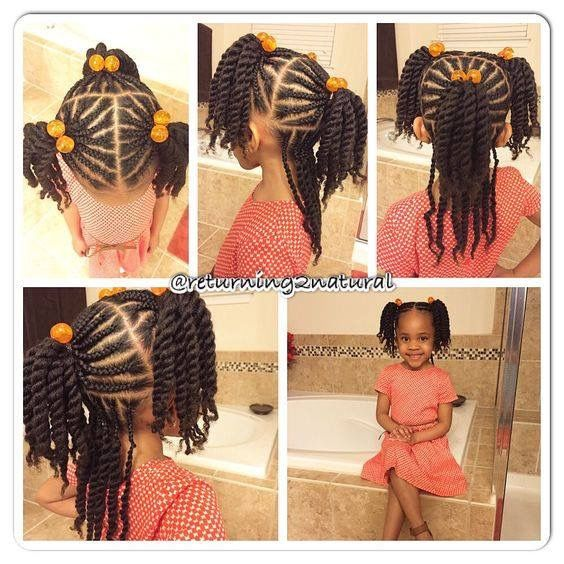Simple But Cute Kids Braided Hairstyles Girls Hairstyles Braids Natural Hair Styles