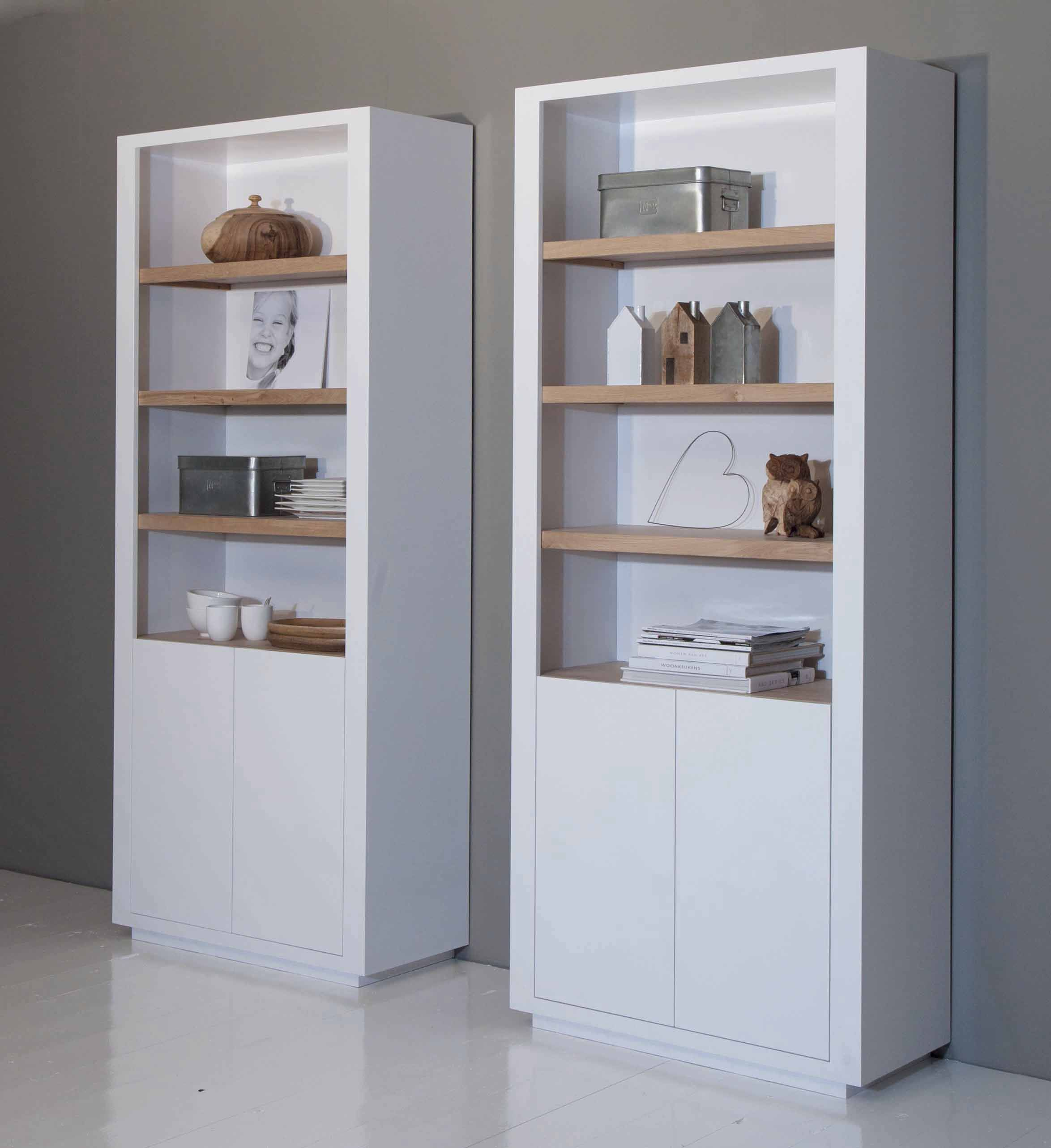 2 kasten naast elkaar evt in woonkamer wanneer de ruimte te leeg zou zijn august proef - Moderne boekenkast ...