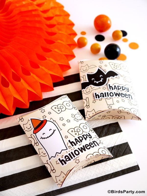 Free Party Printables: Halloween Trick or Treat Favor Boxes