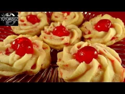 How To Make These Cherry Whipped Shortbread Cookies #whippedshortbreadcookies Shortbread cookies are always a popular one at  Christmas so this recipe had to make it to the bake some cookies day seen as it is so close to the festive season I really love shortbread … #whippedshortbreadcookies