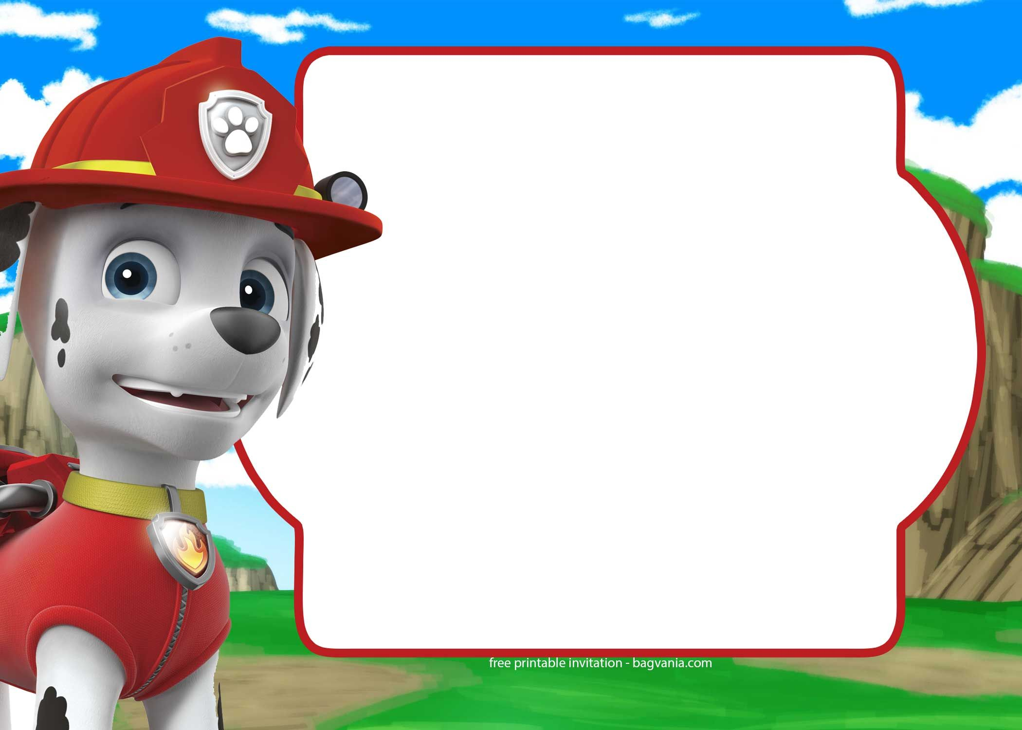 cool free paw patrol invitation template complete collection