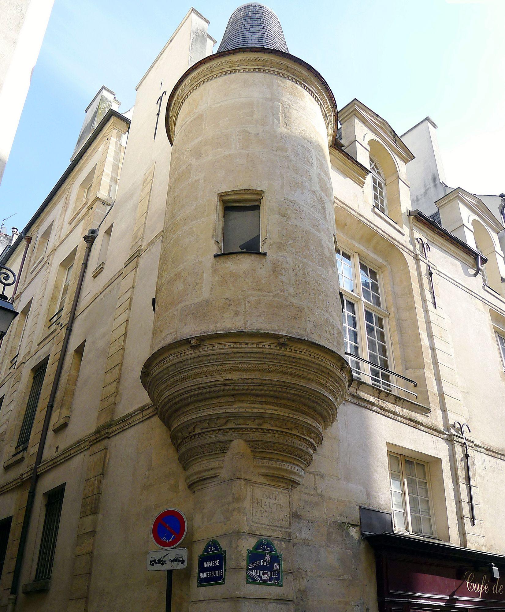 Hotel de Fecamp, rue Hautefeuille, 6e