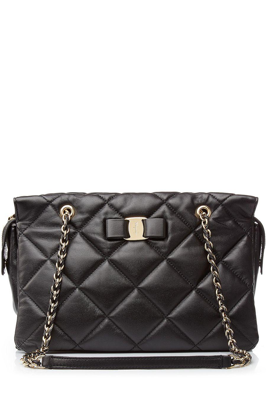 5ff1d680670c SALVATORE FERRAGAMO Medium Ginette Quilted Leather Shoulder Bag.   salvatoreferragamo  bags  shoulder bags  hand bags  leather  lining
