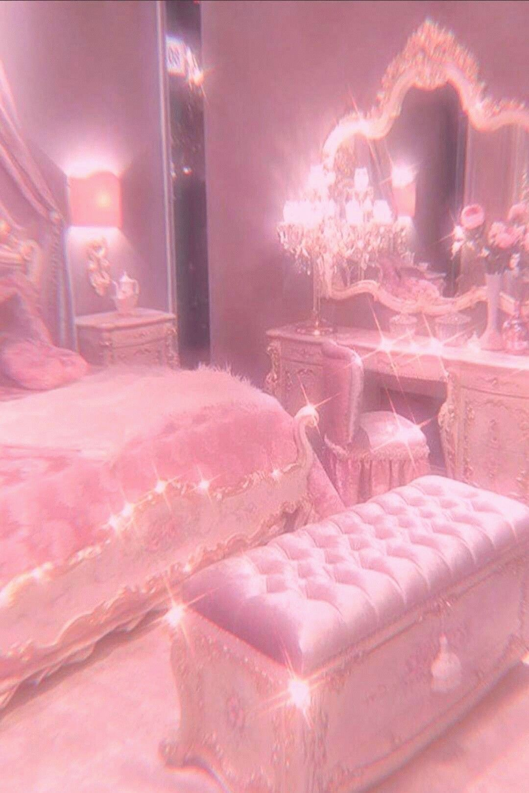 Pin By Arene Colon On Pink In 2021 Green Bedroom Decor Photo Walls Bedroom Pink Wallpaper Luxury pink aesthetic room