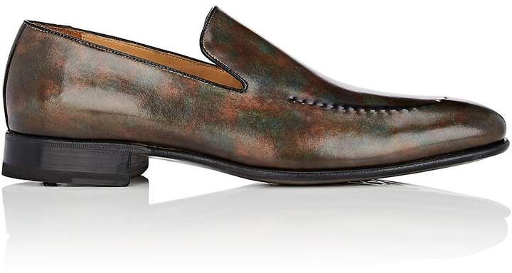 Harris Men's Stitch-Detail Leather Venetian Loafers