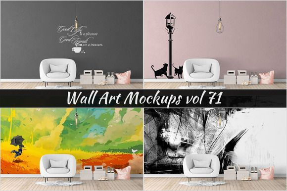 Wall Mockup - Sticker Mockup Vol 71 @creativework247