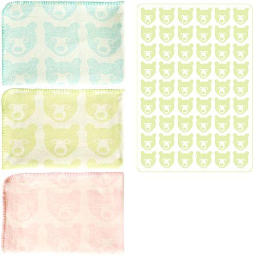 Stina baby blanket; lambswool, brita of sweden