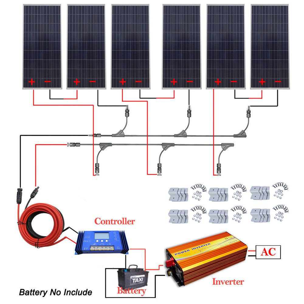 This System Kit Can Be The Perfect Option For Creating An Off Grid Solar System X21 1 Pc 1500w 110v Off Gri Solar System Kit Solar Panels Solar Energy Panels