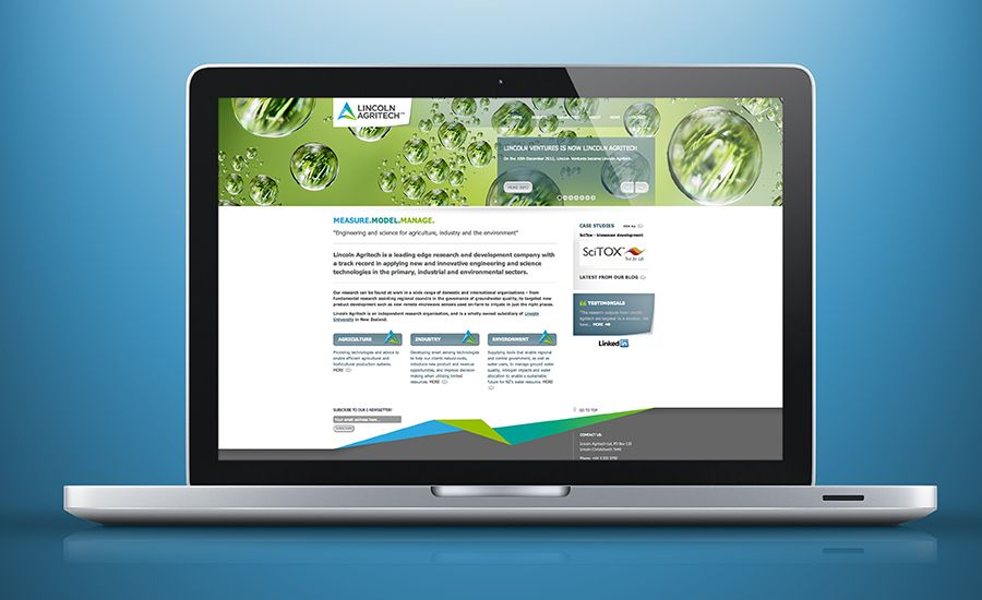 Website Design For Lincoln Agritech A Leading Edge Research And Development Company Based In Lincoln Christchurch Research Development Website Lincoln
