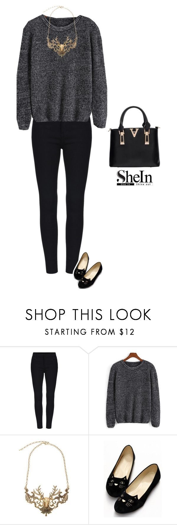 """""""Oh deer"""" by bondril ❤ liked on Polyvore featuring women's clothing, women, female, woman, misses, juniors and shein"""