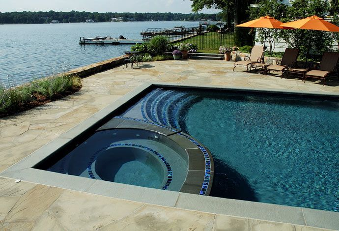 Rectangular Pool Designs swimming pools gallery | seaside mosaic | custom pool design