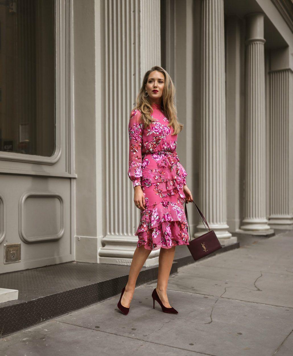 4dcd347d9476 what-wear-bridal-shower-floral-pink-saloni-midi-dress-classic-style8 ...
