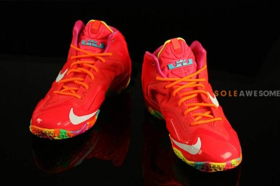 74d08bc9adb86 Nike LeBron 11 GS - Red - Multi-Color - SneakerNews.com