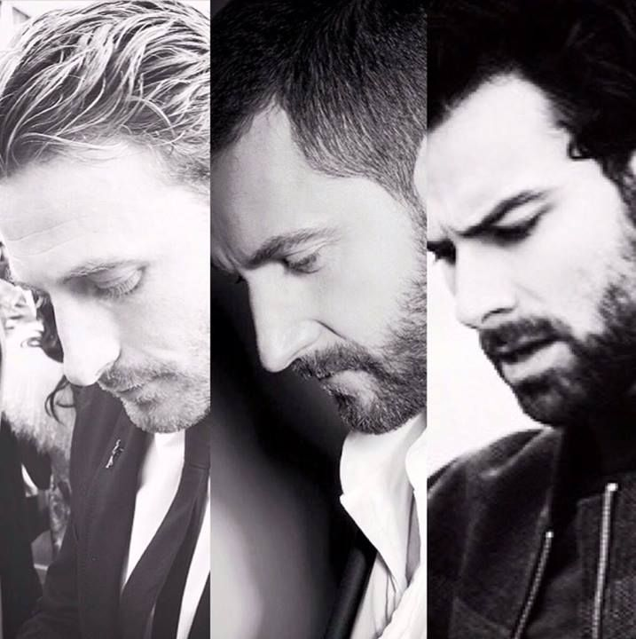 The line of Durin | The Hobbit cast | Dean O'Gorman | Richard Armitage | Aidan Turner <- See what I mean? They could be related....