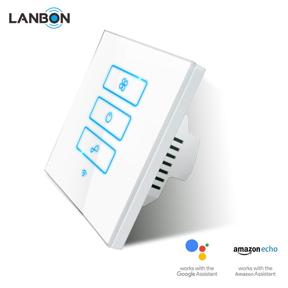 lanbon wifi smart wall touch electric fan switch eu uk standard app remote control works with amazon echo alex home design light dimmer remotes