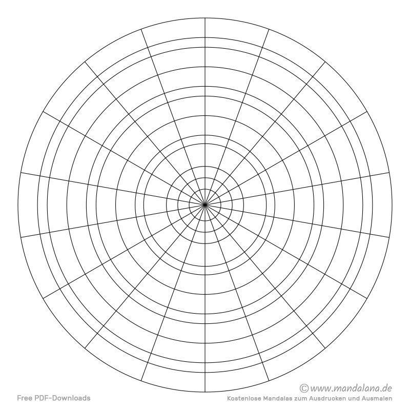 Konzentrische Kreise Kostenlose Vorlagen Zum Ausdrucken In 2020 Kostenlose Vorlagen Mandalas Zum Ausdrucken Ausdrucken