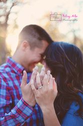 Engagement session ring shot - Brittany Miller Photography