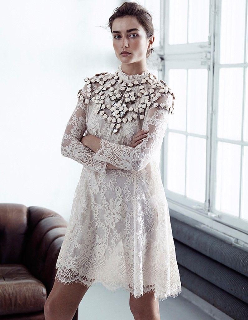 Robe blanche courte nouvelle collection