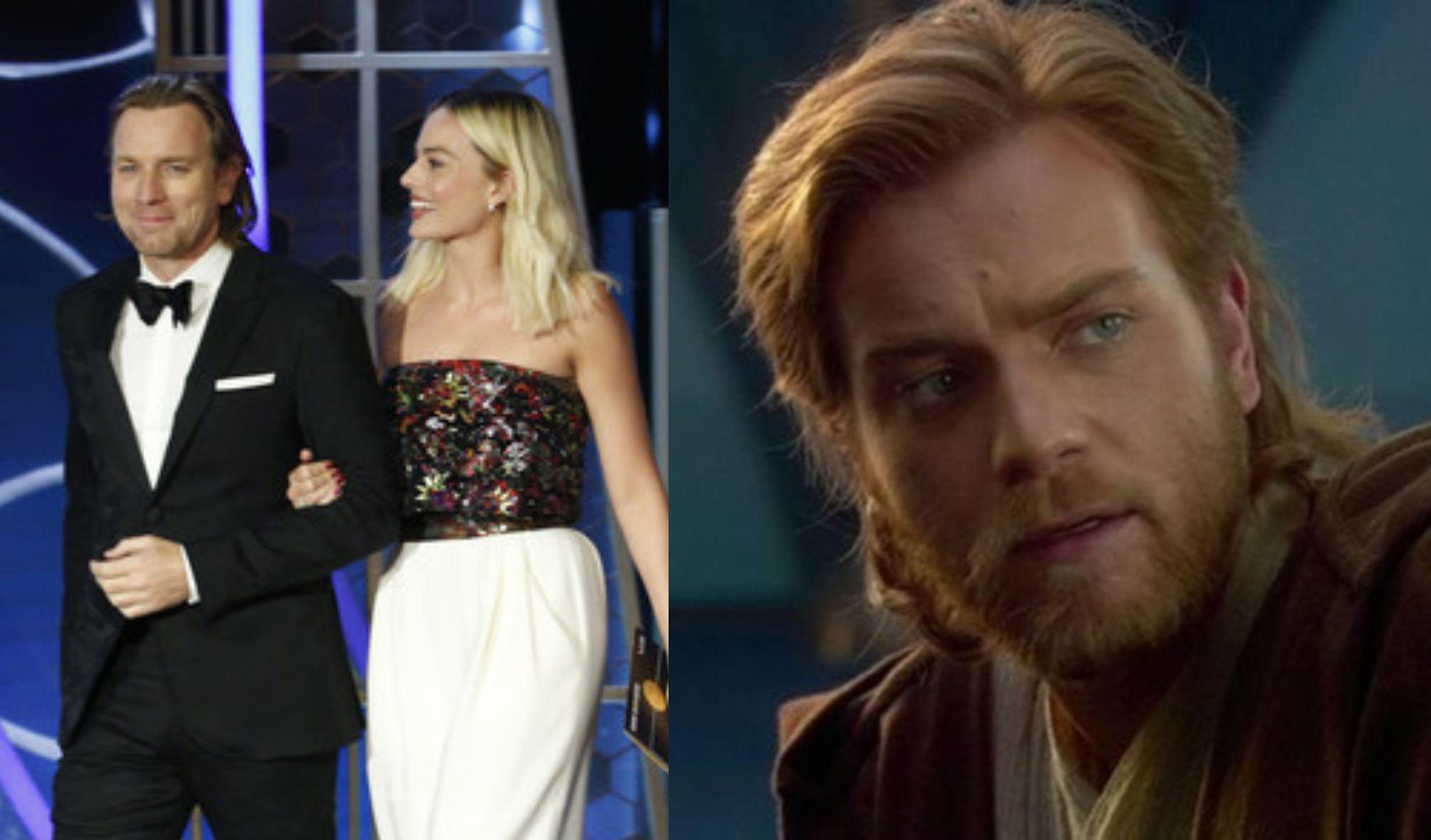 Ewan Mcgregor Shows Off Obi Wan Length Hair During 2020 Golden Globes In 2020 Ewan Mcgregor Obi Wan Hair Lengths