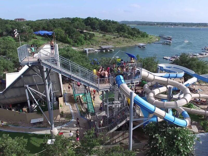 Volente Beach Is A Water Park Located On The Ss Of Lake Travis Has Range Diffe Rides That Whole Family Can Enjoy